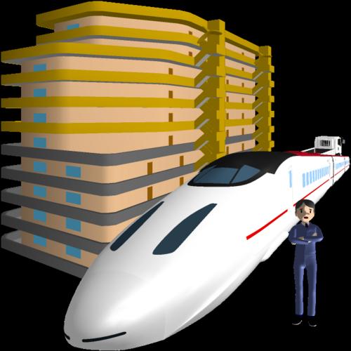 新幹線,マンション,車両事故,現場,地図,Google