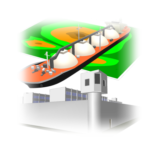 松山刑務所,大井造船作業場,地図